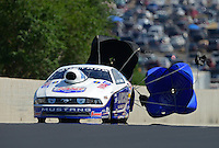 Jul, 21, 2012; Morrison, CO, USA: NHRA pro stock driver Larry Morgan during qualifying for the Mile High Nationals at Bandimere Speedway. Mandatory Credit: Mark J. Rebilas-US PRESSWIRE