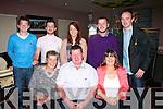 49 again<br /> ----------<br /> Pat O'Shea,Currens(seated centre)had a good time celebrationg his 50th birthday last Saturday night in O'Riada's,Ballymac with his family(seated)L-R Annette,Pat&amp;Joan O'Shea (back) L-R Brian&amp;Padraig O'Shea,Elaine O'Connor,Charles O'Shea &amp; James O'Sullivan.