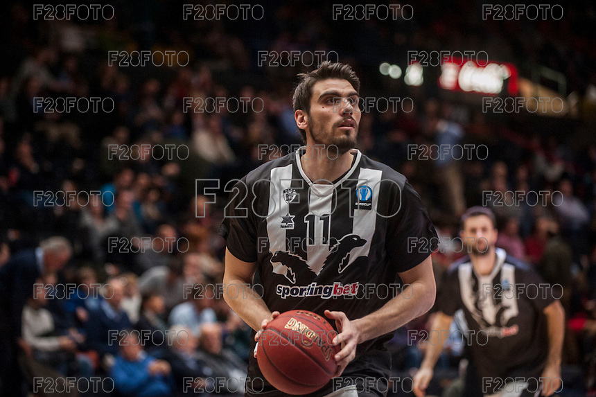 VALENCIA, SPAIN - JANUARY 6: Vangelis Margaritis during EUROCUP match between Valencia Basket and PAOK Thessaloniki at Fonteta Stadium on January 6, 2015 in Valencia, Spain
