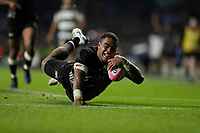 16th November 2019; Twickenham, London, England; International Rugby, Barbarians versus Fiji; John Dyer of Fiji scores another try - Editorial Use
