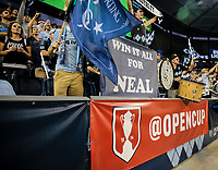 Kansas City, KS - Wednesday September 20, 2017: Sporting KC supporters during the 2017 U.S. Open Cup Final Championship game between Sporting Kansas City and the New York Red Bulls at Children's Mercy Park.