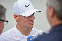Alex Noren (SWE) is interviewed after losing his match to Kevin Kisner (USA) in a playoff during day 5 of the World Golf Championships, Dell Match Play, Austin Country Club, Austin, Texas. 3/25/2018.<br /> Picture: Golffile | Ken Murray<br /> <br /> <br /> All photo usage must carry mandatory copyright credit (&copy; Golffile | Ken Murray)