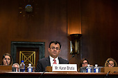 Karan Bhatia, Vice President for Government Affairs and Public Policy at Google, testifies before the Subcommittee on the Constitution on Capitol Hill in Washington D.C., U.S. on July 16, 2019.<br /> <br /> Credit: Stefani Reynolds / CNP