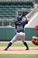 GCL Rays outfielder Patrick Grady (24) at bat during a game against the GCL Red Sox on June 25, 2014 at JetBlue Park at Fenway South in Fort Myers, Florida.  GCL Red Sox defeated the GCL Rays 7-0.  (Mike Janes/Four Seam Images)