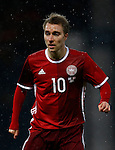 Christian Eriksen of Denmark during the Vauxhall International Challenge Match match at Hampden Park Stadium. Photo credit should read: Simon Bellis/Sportimage