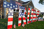 Bellmore, New York, USA. November 2, 2016. Bellmore, New York, USA. November 2, 2016. Large letters spelling TRUMP, and many other colorful pro-Trump Halloween displays are in front yard of Eileen Fuscaldo, a supporter of the Republican presidential candidate Donald Trump.