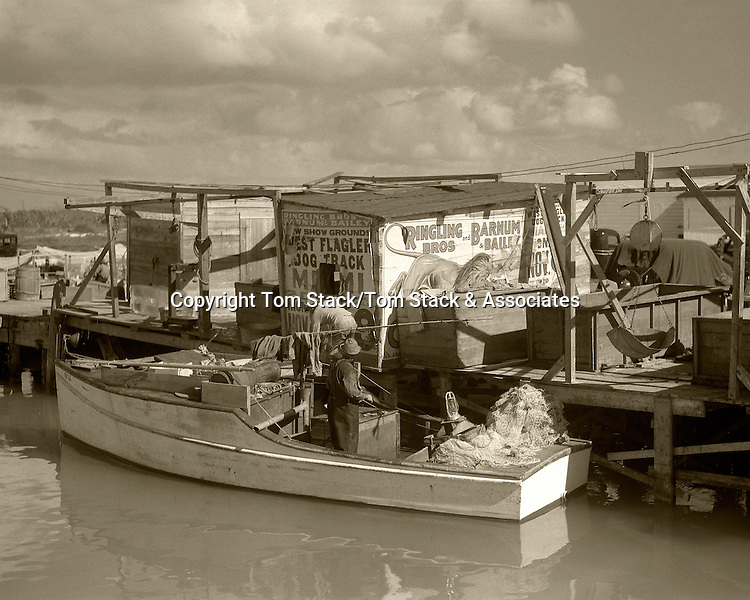 Fishing boat, Lower Matecumbe, Florida Keys, 1930s