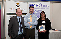 Pictured from left are Andrew Lowe and Phil Walker of Franklands Insurance and Adeela Ahmed