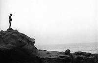 Bergen Wilde at the seashore, 1987. &amp;#xA;<br />