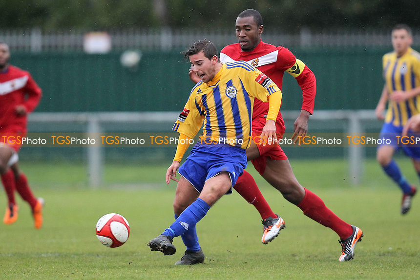 Hussein Isa in action for Romford - Harlow Town vs Romford - Ryman League Division One North Football at Barrows Farm Stadium, Harlow, Essex - 27/10/12 - MANDATORY CREDIT: Gavin Ellis/TGSPHOTO - Self billing applies where appropriate - 0845 094 6026 - contact@tgsphoto.co.uk - NO UNPAID USE.