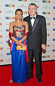 Harolyn Blackwell and Peter Greer arrive for the formal Artist's Dinner honoring the recipients of the 38th Annual Kennedy Center Honors hosted by United States Secretary of State John F. Kerry at the U.S. Department of State in Washington, D.C. on Saturday, December 5, 2015. The 2015 honorees are: singer-songwriter Carole King, filmmaker George Lucas, actress and singer Rita Moreno, conductor Seiji Ozawa, and actress and Broadway star Cicely Tyson.<br /> Credit: Ron Sachs / Pool via CNP