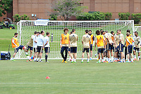 Prior to playing Manchester City in a friendly game at Busch Stadium, home of the St Louis Cardinals baseball team, Chelsea held a closed practice at Robert R Hermann Stadium on the campus of Saint Louis University..Chelsea players training
