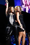 "March 18, 2010 New York: Singers Alicia Keys and Beyonce perform ""Madison Square Garden"" on March 18, 2010 in New York."