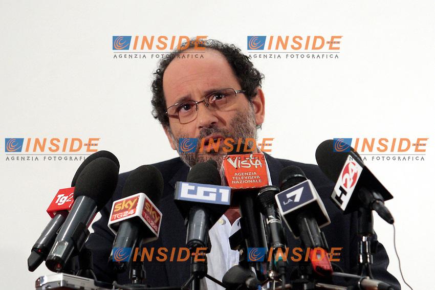 Antonio Ingroia .Roma 29/12/2012 Presentazione del movimento, lista 'Rivoluzione Civile'..Photo Samantha Zucchi Insidefoto