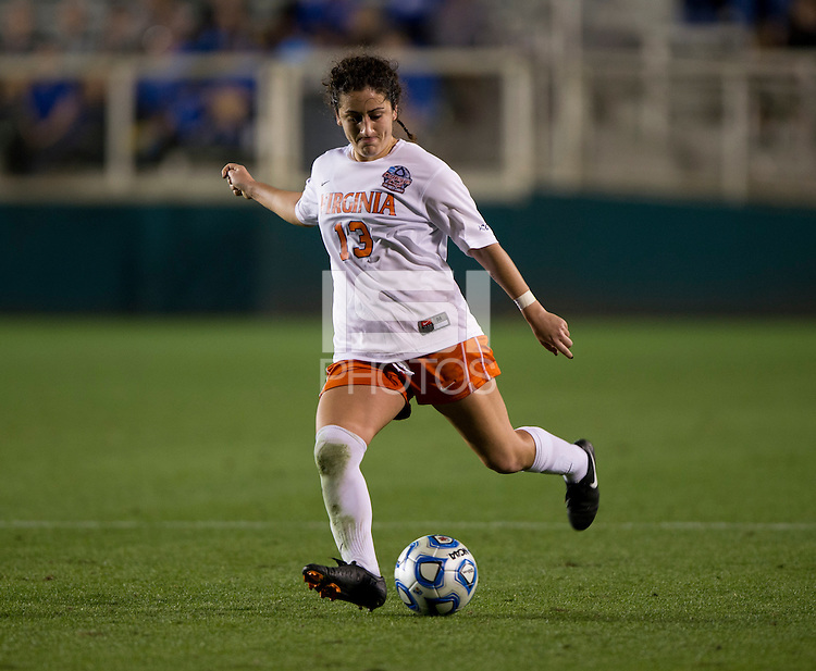 Molly Menchel. UCLA advanced on penalty kicks after defeating Virginia, 1-1, in regulation time at the NCAA Women's College Cup semifinals at WakeMed Soccer Park in Cary, NC.
