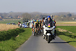 The main group of favourites on Driesstraat during the 2019 E3 Harelbeke Binck Bank Classic 2019 running 203.9km from Harelbeke to Harelbeke, Belgium. 29th March 2019.<br /> Picture: Eoin Clarke | Cyclefile<br /> <br /> All photos usage must carry mandatory copyright credit (© Cyclefile | Eoin Clarke)