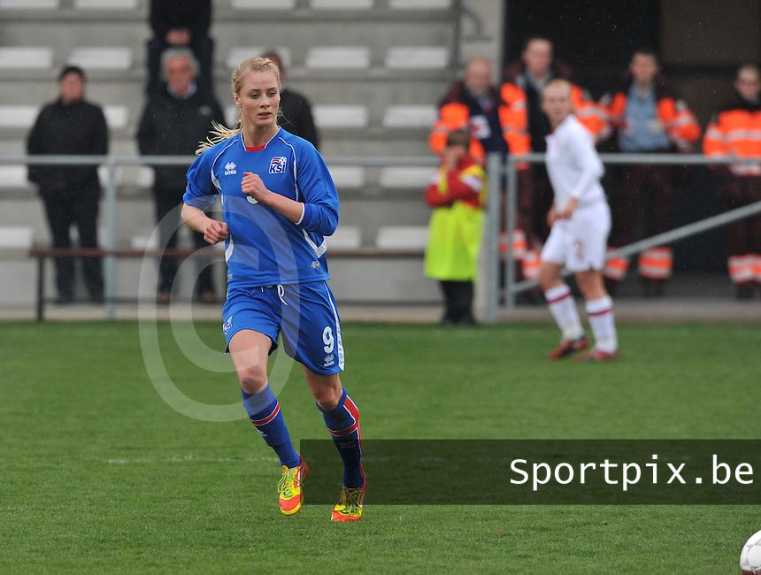 UEFA Women's Under 17 Championship - Second Qualifying round - group 1 : England - Iceland : .Svava Gudmundsdottir.foto DAVID CATRY / Vrouwenteam.be