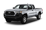 2018 Toyota Tacoma SR Access Cab 4x2 4-Cyl Auto Long Bed 4 Door Pick Up angular front stock photos of front three quarter view