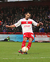 Filipe Morais of Stevenage fires in a free-kick. Stevenage v Coventry City - npower League 1 - Lamex Stadium, Stevenage - 26th December, 2012. © Kevin Coleman 2012......