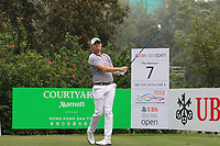 James Morrison (ENG) on the 7th tee during Round 4 of the UBS Hong Kong Open, at Hong Kong golf club, Fanling, Hong Kong. 26/11/2017<br /> Picture: Golffile | Thos Caffrey<br /> <br /> <br /> All photo usage must carry mandatory copyright credit     (&copy; Golffile | Thos Caffrey)