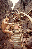Child labor, mining, Amazon, Brazil.