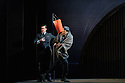 English Touring Opera presents XERXES, by George Frideric Handel, at the Hackney Empire, prior to setting off on a UK tour. Picture shows: Clint van der Linde (Arsamenes), Peter Brathwaite (Elviro)