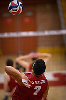 STANFORD, CA - March 10, 2018: Mason Tufuga at Burnham Pavilion. UC Irvine defeated the Stanford Cardinal, 3-0.