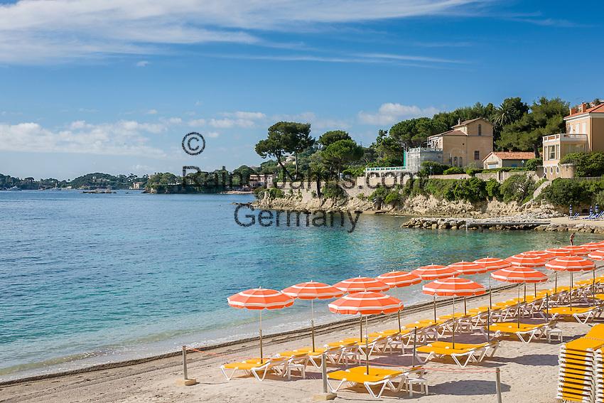 France, Provence-Alpes-Côte d'Azur, Beaulieu-sur-Mer: beach La Calanque and Baie des Fourmis | Frankreich, Provence-Alpes-Côte d'Azur, Beaulieu-sur-Mer: Plage La Calanque an der Baie des Fourmis