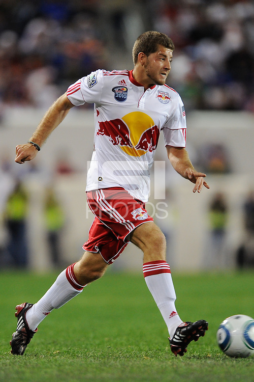 Luke Sassano (32) of the New York Red Bulls during the second half of a friendly between Santos FC and the New York Red Bulls at Red Bull Arena in Harrison, NJ, on March 20, 2010. The Red Bulls defeated Santos FC 3-1.