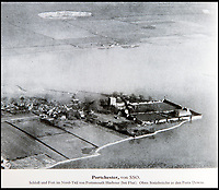 BNPS.co.uk (01202 558833)<br /> Pic: PhilYeomans/BNPS<br /> <br /> Portchester's Roman Fort was photographed.<br /> <br /> Chilling - Hitlers 'How to' guide to the invasion of Britain.<br /> <br /> A remarkably detailed invasion plan pack of Britain has been unearthed to reveal how our genteel seaside resorts would have been in the front line had Hitler got his way in World War Two.<br /> <br /> The Operation Sea Lion documents, which were issued to German military headquarters' on August 1, 1940, contain numerous maps and photos of every town on the south coast.<br /> <br /> They provide a chilling reminder of how well prepared a German invading force would have been had the Luftwaffe not been rebuffed by The Few in the Battle of Britain.<br /> <br /> There is a large selection of black and white photos of seaside resorts and notable landmarks stretching all the way from Land's End in Cornwall to Broadstairs in Kent.<br /> <br /> The pack also features a map of Hastings, raising the possibility that a second battle could have been staged there, almost 900 years after the invading William The Conqueror triumphed in 1066.