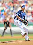 15 March 2008: Washington Nationals' pitcher Odalis Perez in action during a Spring Training game against the Los Angeles Dodgers at Space Coast Stadium, in Viera, Florida...Mandatory Photo Credit: Ed Wolfstein Photo