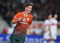 FUSSBALL  1. BUNDESLIGA  SAISON 2011/2012  31. SPIELTAG 13.04.2012 VfB Stuttgart - SV Werder Bremen JUBEL Werder Bremen; Markus Rosenberg nach seinem Tor zum 0-1
