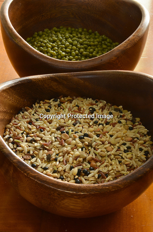 Stock Photos of Mung Beans and Rice