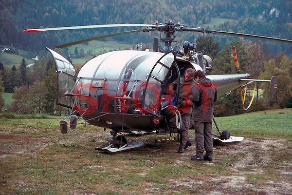 Austrian mountain rescue helicopter and its crew. This image may only be used to portray the subject in a positive manner..©shoutpictures.com..john@shoutpictures.com