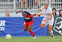 Boyds, MD - Saturday Sept. 03, 2016: Crystal Dunn, Alanna Kennedy during a regular season National Women's Soccer League (NWSL) match between the Washington Spirit and the Western New York Flash at Maureen Hendricks Field, Maryland SoccerPlex.