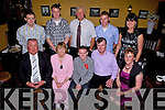 Celebrating his Confirmation with family and friends was Darren Enright(centre) from Abbeyfeale pictured here last Friday in Leen's Hotel, Abbeyfeale. F l-r: Tom Enright, Margaret Kelly, Darren Enright, Eddie Connell, Eileen Enright. B l-r: Padraic Enright, Damien and Martin McCarthy, Aidrain Enright and Sheila McCarthy.