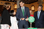 King Felipe VI of Spain attends audience with the winners of 'Que es un rey para ti' competition.November 11, 2015. (ALTERPHOTOS/Acero)