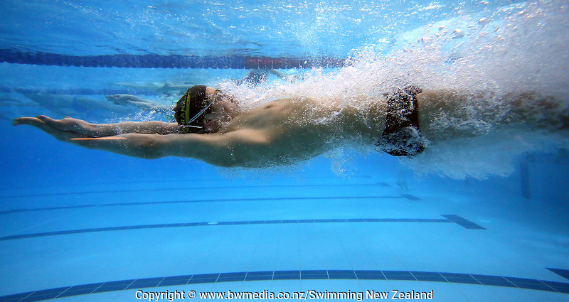 General view during Session Four of the 2015 New Zealand Short Course Championships, Sir Owen G. Glenn National Aquatic Centre, Auckland, New Zealand, 12 August 2015. Photo: Simon Watts/www.bwmedia.co.nz