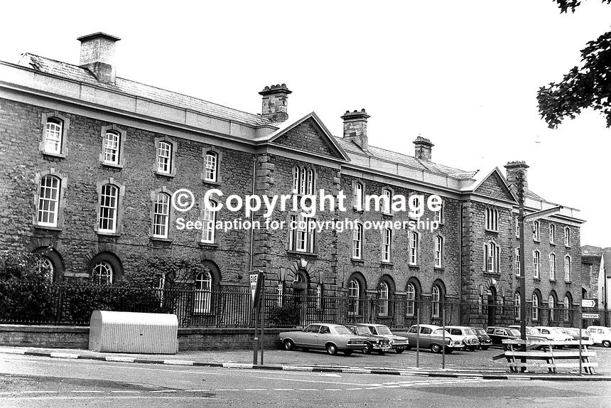 Armagh Jail, Armagh, N Ireland, UK, July, 1970. Primarily a women&rsquo;s prison it ceased to function as such in 1986. 197007000243a<br />