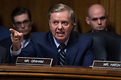 UNITED STATES - SEPTEMBER 27: Sen. Lindsey Graham, R-S.C., defends Judge Brett Kavanaugh during the Senate Judiciary Committee hearing on his nomination be an associate justice of the Supreme Court of the United States, focusing on allegations of sexual assault by Kavanaugh against Christine Blasey Ford in the early 1980s. (Photo By Tom Williams/CQ Roll Call/POOL)
