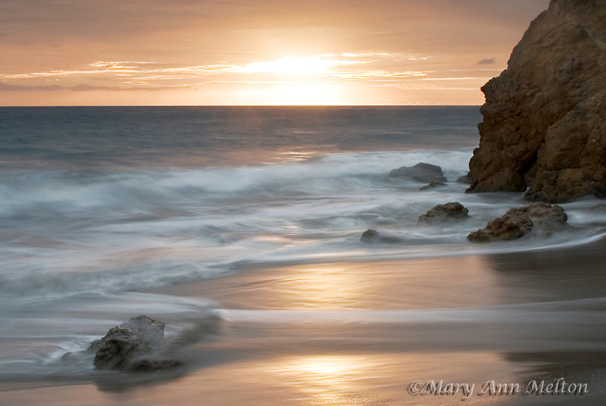 Sunset at El Matador State Beach, Malibu, California