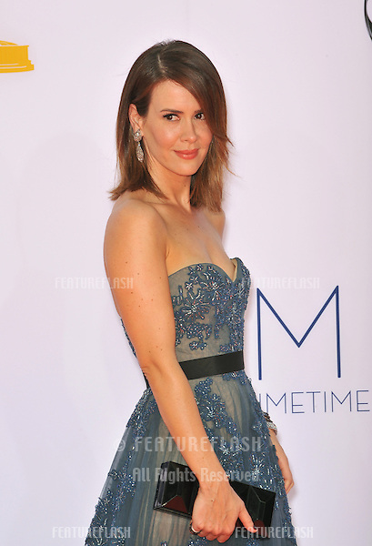 Sarah Paulson at the 64th Primetime Emmy Awards at the Nokia Theatre LA Live..September 23, 2012  Los Angeles, CA.Picture: Paul Smith / Featureflash