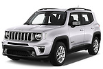 2019 JEEP Renegade Limited 5 Door SUV Angular Front stock photos of front three quarter view
