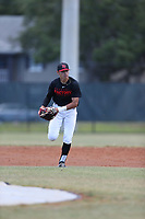 Armando Hernandez Legrand (65) of Puerto Rico Baseball Academy in Yauco, Puerto Rico during the Under Armour Baseball Factory National Showcase, Florida, presented by Baseball Factory on June 13, 2018 the Joe DiMaggio Sports Complex in Clearwater, Florida.  (Nathan Ray/Four Seam Images)