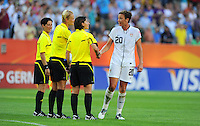 Abby Wambach (r) during the FIFA Women's World Cup at the FIFA Stadium in Dresden, Germany on June 28th, 2011.