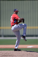 Boston Red Sox Williams Jerez (28) during a minor league spring training game against the Baltimore Orioles on March 18, 2015 at Buck O'Neil Complex in Sarasota, Florida.  (Mike Janes/Four Seam Images)