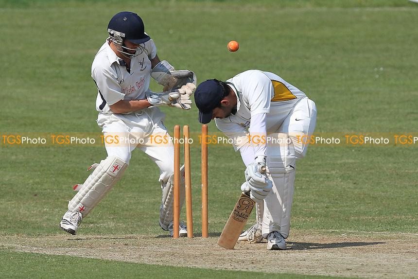 Upminster claim the fourth Harold Wood wicket - Harold Wood CC (batting) vs Upminster CC - Essex Club Cricket at Harold Wood Park - 30/04/11 - MANDATORY CREDIT: Gavin Ellis/TGSPHOTO - Self billing applies where appropriate - Tel: 0845 094 6026