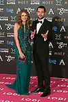 Elena Ballesteros and Dani Mateo attend the 2015 Goya Awards at Auditorium Hotel, Madrid,  Spain. February 07, 2015.(ALTERPHOTOS/)Carlos Dafonte)