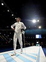 European Championships Fencing 2010 / Fecht Europameisterschaft 2010 in Leipzig - Competition Championat d'europe - im Bild: men epee / Degen Herren - the new european champion Jeran-Michel Lucenay (FRA) during final match against Gabor Boczko (HUN)  . Foto: Norman Rembarz..Norman Rembarz , Autorennummer 41043728 , Augustenstr. 2, 04317 Leipzig, Tel.: 01794887569, Hypovereinsbank: BLZ: 86020086, KN: 357889472, St.Nr.: 231/261/06432 - Jegliche kommerzielle Nutzung ist honorar- und mehrwertsteuerpflichtig! Persönlichkeitsrechte sind zu wahren. Es wird keine Haftung übernommen bei Verletzung von Rechten Dritter. Autoren-Nennung gem. §13 UrhGes. wird verlangt. Weitergabe an Dritte nur nach  vorheriger Absprache..