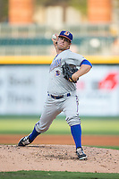 Durham Bulls starting pitcher Brandin Hagens (12) in action against the Charlotte Knights at BB&T BallPark on July 22, 2015 in Charlotte, North Carolina.  The Knights defeated the Bulls 6-4.  (Brian Westerholt/Four Seam Images)